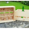 Caja sidra de madera 12 botellas